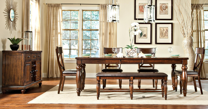 Caprice Table + 4 Chairs Set