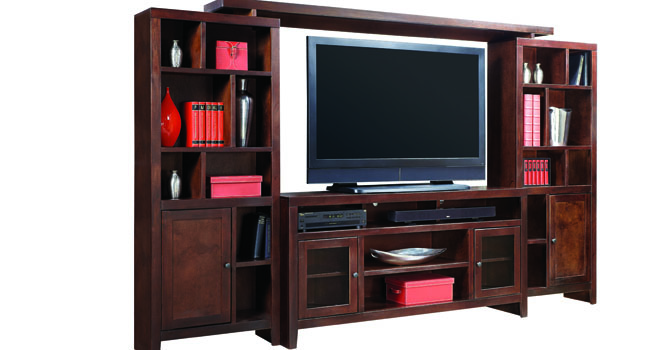 Aspenhome Essentials Lifestyle 120 Inch Entertainment Wall Unit with 4 Doors at Walker's Furniture